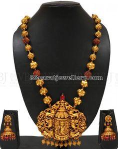 Nakshi Work Krishna Long chain - Jewellery Designs