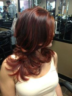 Multi-tonal Red copper brown ombre... I would love to try red hair, not sure how it would look though.