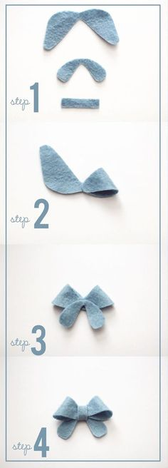 Bows for the baby - clips and headband craft project for the shower~ simple and petite felt bows at kiki and company with free template! Felt Diy, Felt Crafts, Fabric Crafts, Sewing Crafts, Sewing Projects, Kids Crafts, Felt Flowers, Fabric Flowers, Felt Bows