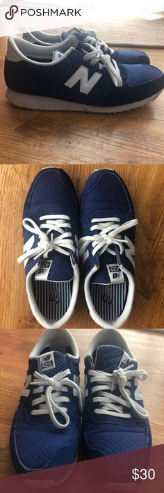 pretty nice 6ca85 d81af Navy New Balance Women s Sneakers 420 Lightly worn new balance sneakers.  True to size.
