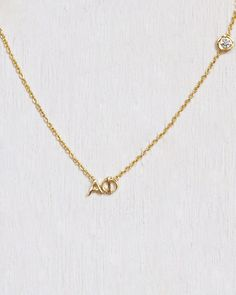 Image of alpha phi diamond necklace www.mylojewelry.com #mylojewelry #handmadejewelry #etsy #jewelry #gold #goldjewelry #simplejewelry  #sorority #sororitynecklace #alphaphi #ao  #sororityjewelry