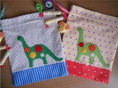 Dino Drawstring Bags