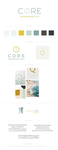 Brand Design | Core Endodontics - Lauren Carns