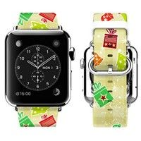 Apple Watch Band 42mm for Christmas Gift with Print of Small Christmas Gift Pattern   This classic printed Christmas Pattern genuine leather band is specially designed for Apple Watch 38mm released on 2015. It's more than a watch Read  more http://themarketplacespot.com/wearable-technology/apple-watch-band-42mm-for-christmas-gift-with-print-of-small-christmas-gift-pattern/  Visit http://themarketplacespot.com to read more on this topic