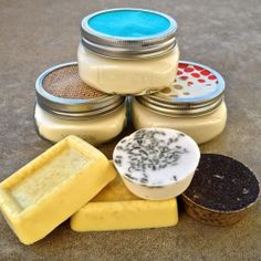 Soy candles and glycerin soap. An easy DIY for homemade gifts--especially like the soap.