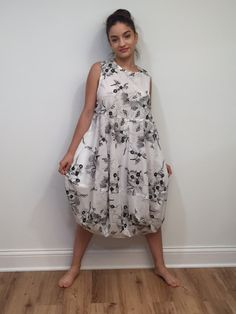 Embroidered Cotton Dress White Dress With Black by Olimpias