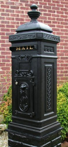 Ecco Victorian Tower Mailbox in Black E8BK by ECCO. $357.79. The Fuoriserie Ecco E8 Tower Mailbox is a stately and roomy Victorian Style mailbox, designed to be installed on a pedestal. The freestanding mailbox features elegant motifs and classic details on all four sides. It is made of light weight diecast aluminum and finished in a hard powder coat paint.