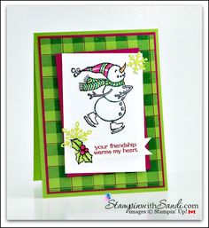 Spirited Snowmen and Buffalo Check - Sandi Maciver - Cardmaking and papercrafting made easy Holiday Cards, Christmas Cards, Christmas 2017, Rainbow Card, Pop Up Box Cards, Snowflake Cards, Snowman Cards, Christmas Paper Crafts, Bird Cards