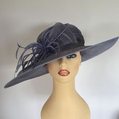 Ladies Wedding Hat Races Mother Bride Ascot Hat Lilac Mauve by Nigel Rayment