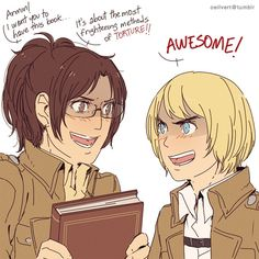 Attack on Titan ~~ What a dangerous combination! :: Hanji and Armin