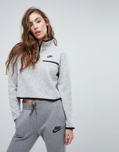 Buy Nike Knitted Half Zip Pullover at ASOS. With free delivery and return options (Ts&Cs apply), online shopping has never been so easy. Get the latest trends with ASOS now. Nike Outfits, Casual Skirt Outfits, Sport Outfits, Fitness Outfits, Nike Half Zip, Half Zip Pullover, Sweatshirts, Winter Clothes, Winter Dresses