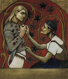 One of my favourite artists is Akseli Gallen-Kallela. He was a Finnish romantic period artist who used the recently published Kalevala as his inspiration. Art And Illustration, Graphic Design Illustration, Helsinki, Graffiti, Art Database, Artist Art, Art Google, Art For Sale, Stockholm