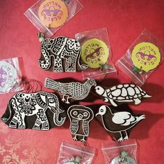 Some new Blockwallah Creatures have arrived at nonadesigns.com! #nonadesigns #blockwallah #blockprint #stamping #wood #handmade