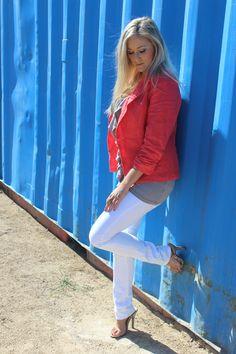 #Blazer, #boohoo.com, #coral, #Jbrand, #Marshalls, #neutral, #ruffles, #shoes.com, #skinnies, #Touch Ups, #white