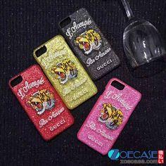 新作 グッチ iphoneケース 刺しゅう iphone7ケース Gucci アイフォン8 カバー ジャケット型 iPhone7plus キラキラケース gucci ブランド