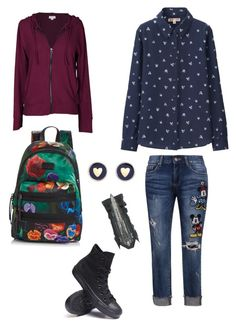 """""""Untitled #82"""" by rainbowchanrawr on Polyvore featuring Disney, Uniqlo, Converse, Velvet by Graham & Spencer, Marc by Marc Jacobs and Brooks Brothers"""