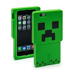 Minecraft Creeper Character Case iPhone 6 $19.98 http://amzn.to/1UopiFl  You can express your Minecraft fandom by wearing a t-shirt, but real-world Minecraft gear is precious like a Dragon Egg. It's truly rare. These cool silicone Minecraft Character Cases are just what you need to bling out your phone or tablet! Each case features a lip so the phone's glass does not sit directly on the surface when placed face down. Silicone construction. Available in Creeper, Wolf and Pig designs.