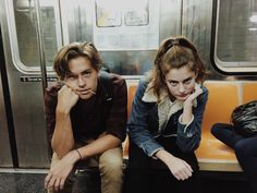 If they weren't in a metro, they'd look like two teens that got busted for like vandalism or something on school property.