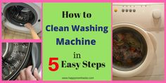 How to Clean a Front Loading Washing Machine with Bleach | Happy Mom Hacks