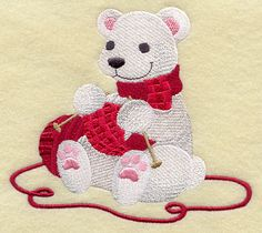 "Knitting Polar Bear	Product ID:	F7394 Size:	5.37""(w) x 4.85""(h) (136.4 x 123.2 mm)	Color Changes:	10 Stitches:	28756	Colors Used:	7"