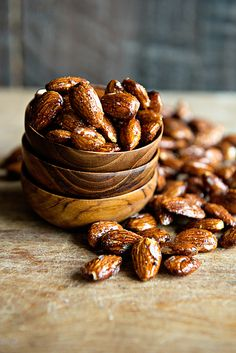 Honey Glazed Almonds Recipe from dineanddish.net