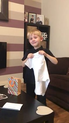 Adorable moment boy finds out he's getting a baby brother