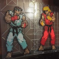 Street Fighter Ryu vs Ken perler beads by Nick Galilei