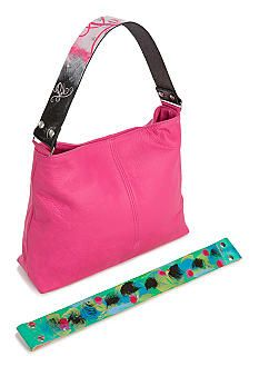 Katie Kalsi Sophie Medium Interchangeable Strap Shoulder Bag #BelkPink #breastcancerawareness