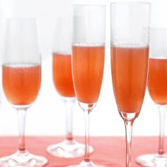 Pear Cranberry Bellini 1 cup pear nectar 1 cup cranberry juice ...