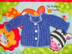 Baby Cardigan with link to free pattern and video tutorial