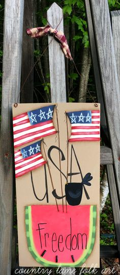 4th of July decor primitive home decor fourth of July USA