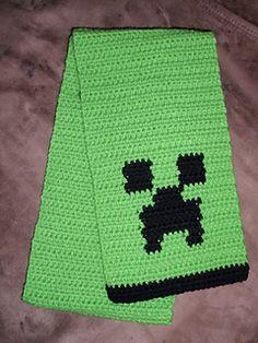minecraft crochet scarf - free pattern download