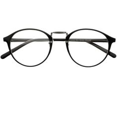 True Vintage Fashion Style Clear Lens Eyeglasses Round Frames R45... ($9.95) ❤ liked on Polyvore featuring accessories, eyewear, eyeglasses, glasses, sunglasses, vintage glasses, black eyeglasses, round tortoiseshell glasses, round eye glasses and vintage round eyeglasses