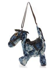 Horse Shape Denim Shoulder Bag