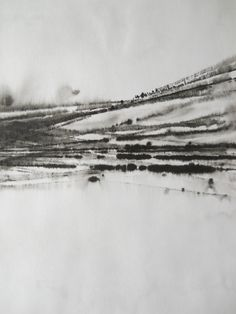 Eden Some - The Winter Solstice - Abstract, Black and White, Original Painting (SOLD)