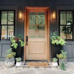 Front Door Mats, Wood Front Doors, Front Door Entrance, Exterior Front Doors, Glass Front Door, Front Door Decor, Farmhouse Front Doors, Cottage Front Doors, Front Doors With Windows