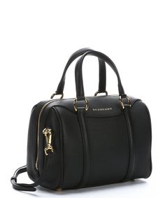 a0131aa0ebce Lyst - Burberry Black Calfskin Small  alchester  Convertible Bowling Bag in  Black