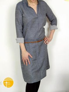 Schnittmuster / Ebook lillesol women No.26 Jeanskleid / Nähen Kleid / Sewing pattern Jeans dress