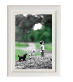 A day in the park playmobil dogs concept by QueenAndEyePrints, $40.00