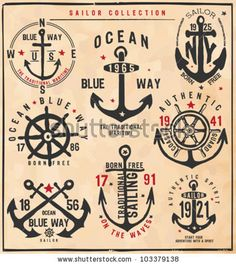 Sailor Collection by grafiz, via ShutterStock
