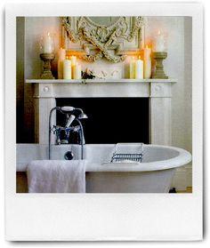 #Fireplace in #bathroom