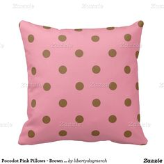 Pocodot Pink Pillows - Brown & Pink Gifts - Gift
