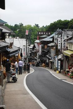 Narita, Japan - walked down this street on New Year's Day - followed the crowds to the temple