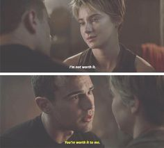 I'm so excited to watch this scene over and over again because it melts my heart and I want on set pictures of them filming  Allegiant!