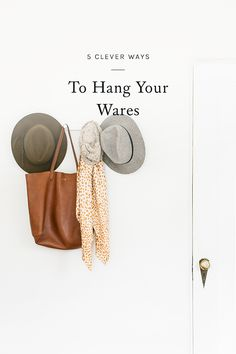 spring cleaning on your to-do list this weekend? click through for a few clever ways to hang your wares.