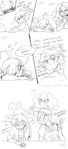 Marinette- oh god, I'm embarrassed and gushing for her. xD