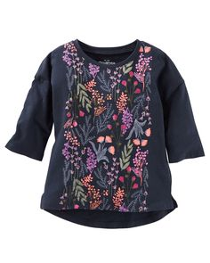 Kid Girl Puff-Print Top from OshKosh B'gosh. Shop clothing & accessories from a trusted name in kids, toddlers, and baby clothes.