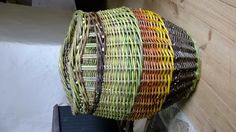 Log basket made from home-grown willow by Hanna Van Aelst from Barnabaun Basketry in Ireland