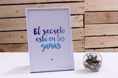 "Lámina ""El secreto está en las ganas"" - Amart Palma"