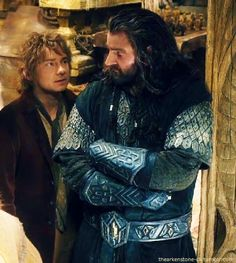 Some Bagginshield moment. - Their friendship was so precious! Except, you know, when Thorin tried to have Bilbo thrown from a wall.